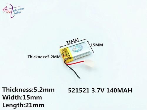 bateria bluetooth fone de ouvido 5mm x 15mm x 21mm nova