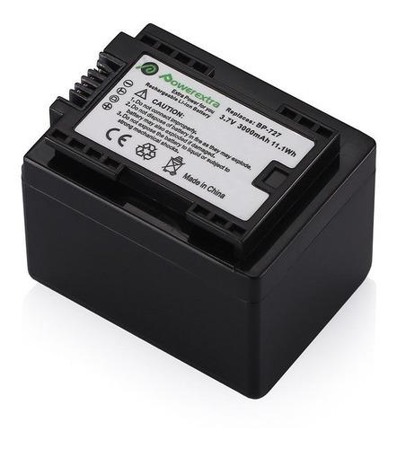 batería bp-727 + cargador para canon vixia hf r400 r500 r600