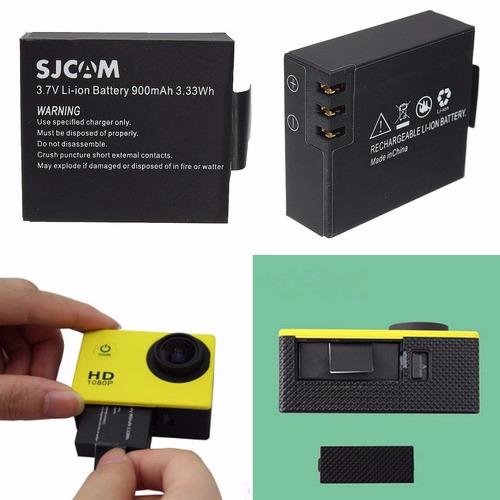 batería cámara deportiva hd sports: wifi 4k y sjcam pack x 2