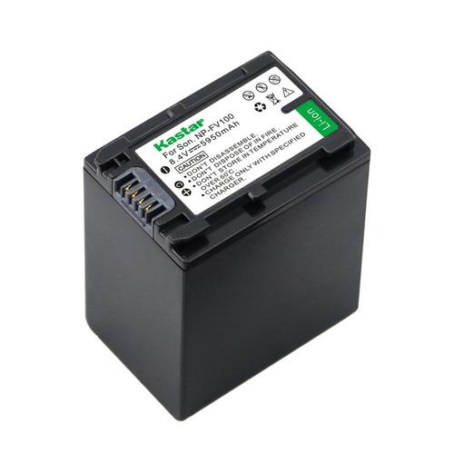 batería cámara sony np-fv100, fv30 fv40 fv50 fv70, dcr hdr