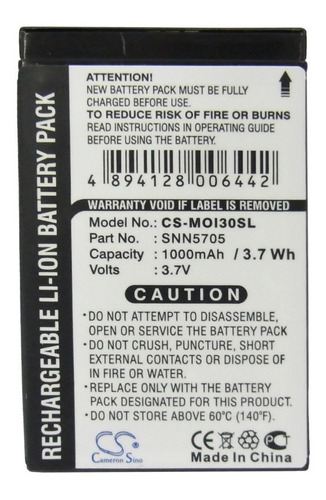 bateria cameron motorola i60 i700 i730 i760 i85 i860 i870 i9