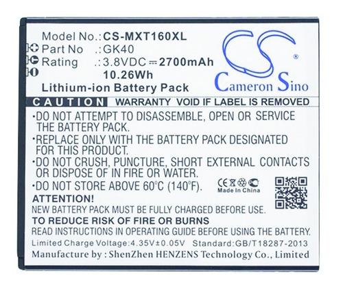 bateria cameron para motorola moto g5 4g gk40 e3 e4 dual sim