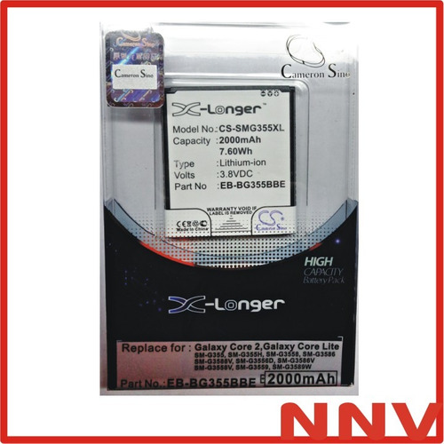 bateria cameron sino para samsung galaxy core 2 core lite sm g355 eb-bg355bbe g355h 2000mah