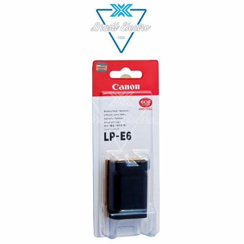 bateria canon lp-e6 câmera eos 5d mark lii 60d 7d zerada