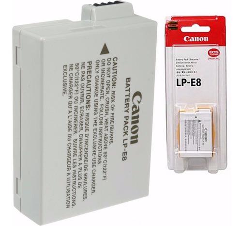 bateria canon lp-e8 original lp e8 t3i t5i garantia brasil