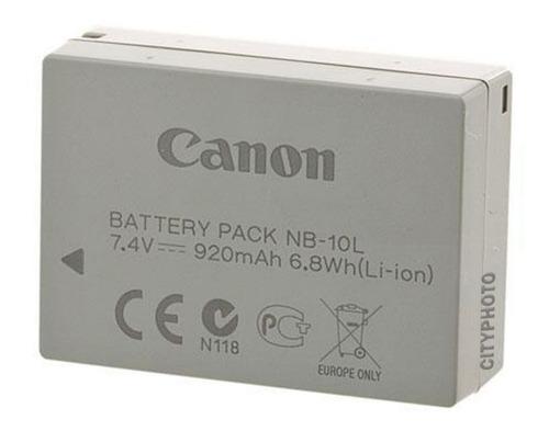 batería canon nb 10l nueva para sx40, sx50, sx60, g15, g16,