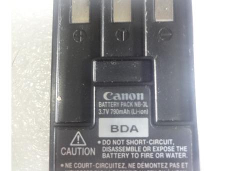 bateria canon nb 3l usada 100 funcional  10 verdes
