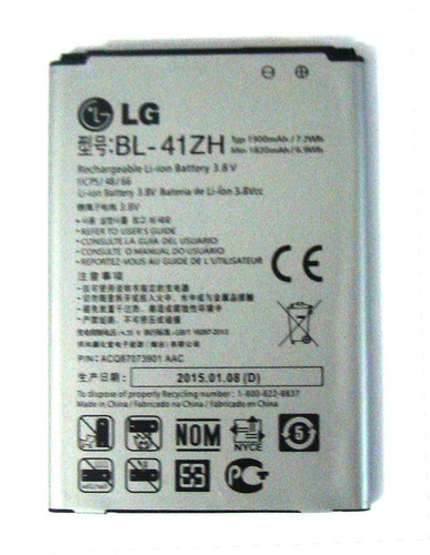 bateria carga lg d213 1900mah / bl-41zh nova 100%