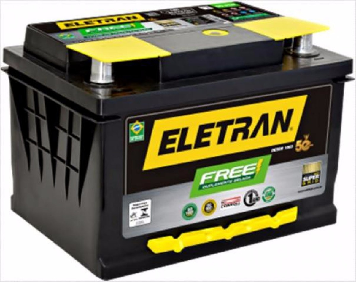 Bateria carro eletran 60 ah free com 12 meses de garantia - Bateria para casa ...