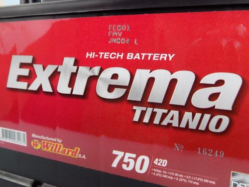 batería carro willard 750 envío gratis  medellín y antioquia