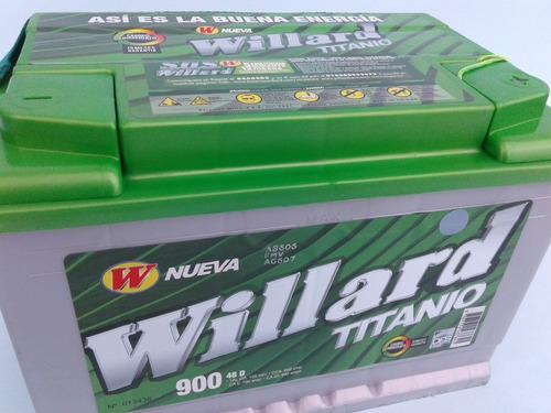 batería carro willard titanio 900 respaldo peláez hermanos