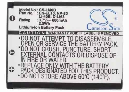 bateria casio np80 exilim ex-z33sr exz33sr z33sr