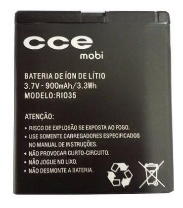 bateria celular cce mobi mod: rio35 original - lote 10 pçs