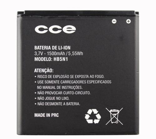 bateria celular cce modelo hb5n1 3,7v - 1500mah 5,55wh