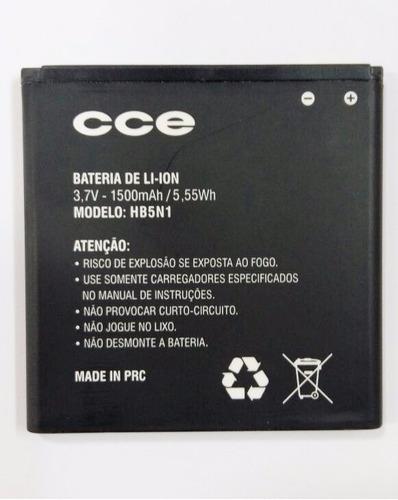 bateria celular cce modelo hb5n1 3,7v - 1500mah para sm 70
