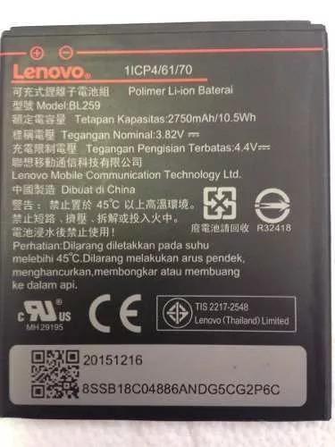 e828ce06bfe Bateria Celular Lenovo Vibe K5 Modelo Bl259 - R$ 48,99 em Mercado Livre