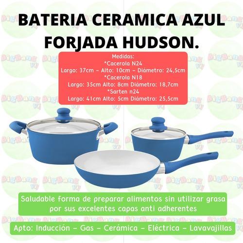bateria ceramica 5 piezas induccion aluminio forjado hudson