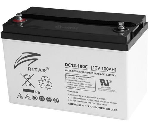 batería ciclo profundo ritar carbono super ciclado 12v 100ah