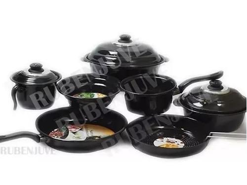 bateria cocina completa ollas sarten italiana exahome