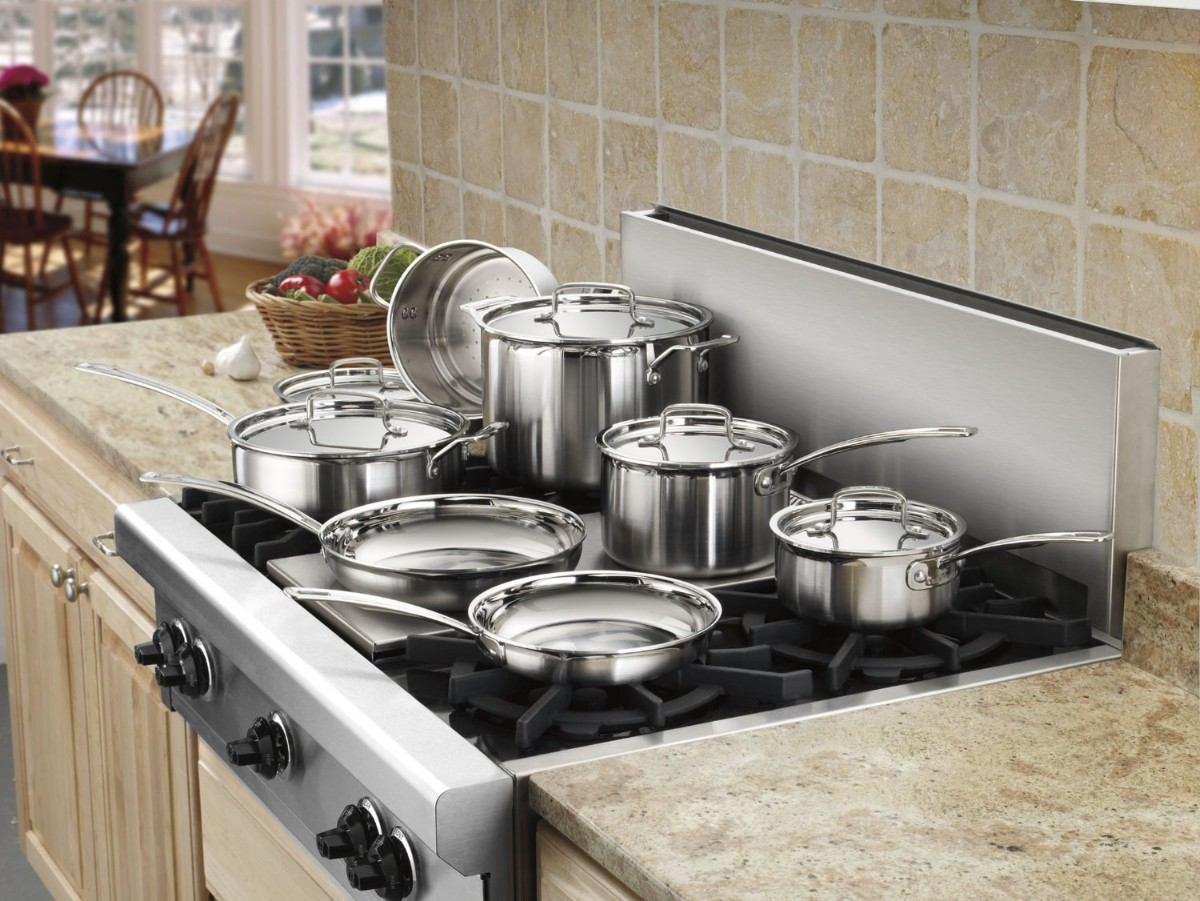 Set bateria de cocina sarten olla 12 piezas cuisinart mcp - Ollas de cocina ...