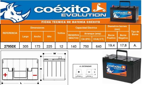 bateria coexito 27950x para automovil-servicio domicilio