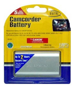 batería compatible canon es-50/55/60/65/75 2000mah - tecsys