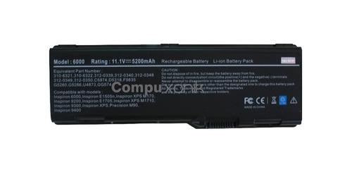 bateria compatible dell inspiron 6000 e1705 9200 9300 9400