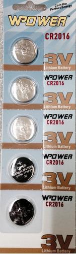 bateria cr2016 wpower 3v de lithium, caixa com 50 unidades