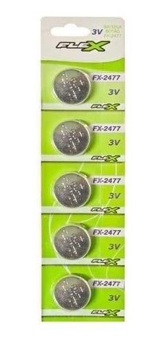 bateria cr2477 pilha fx-cr2477 3v cartela 5 unidades original
