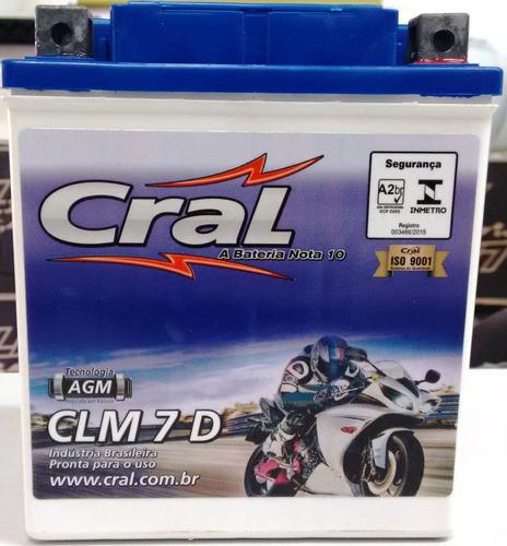bateria cral falcon 400 nx-4 400 honda 7ah clm7d  0145