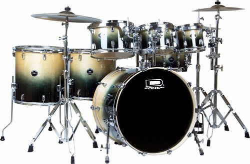 bateria d one fusion 100% birch df-22 03 tons, 02 surdos