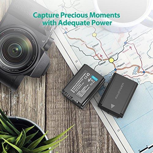 batería de cámara np-fw50 ravpower para sony a7, a600, a65