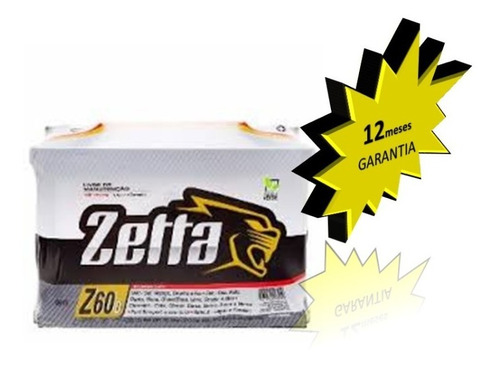bateria de carro zetta 60ah  citroen: c3, berlingo, picasso,
