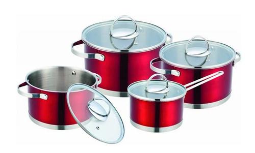 batería de cocina 8 piezas acero inoxidable incluye envío
