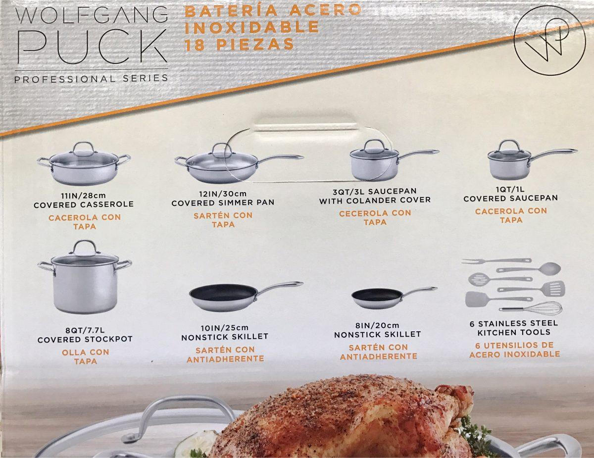 Bater a de cocina acero inoxidable 18 piezas wolfgang puck Articulos de cocina de acero inoxidable
