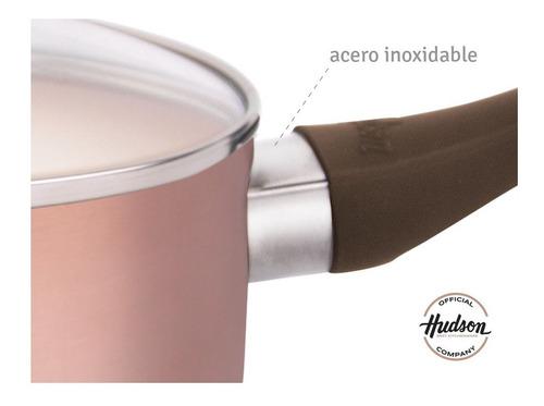 bateria de cocina antiadherente ceramico hudson 5 piezas