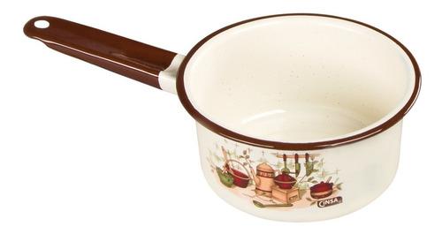 batería de cocina clásica de peltre armonía plus color crema 14 piezas cinsa