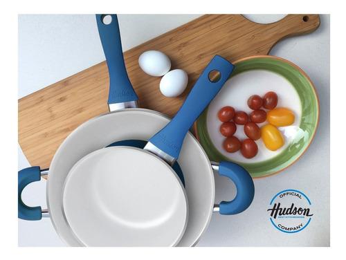 bateria de cocina hudson ceramica 5 piezas induccion