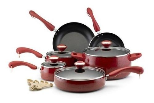 batería de cocina paula deen signature 15 piezas importada