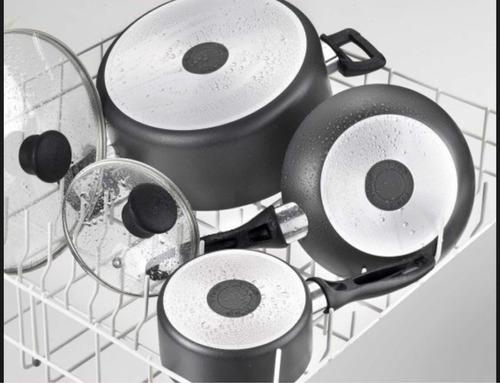 batería de cocina t-fal con 20 piezas , la original gris obs