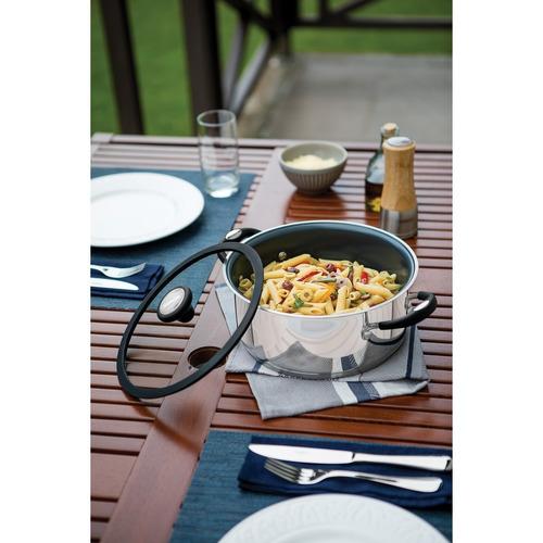 bateria de cocina tramontina acero y ceramica olla induccion