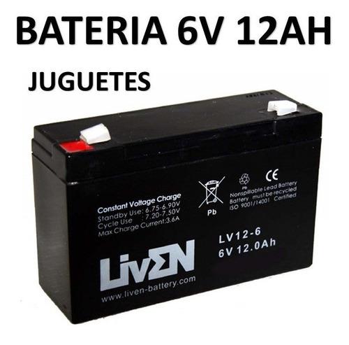 bateria de gel 6v 12ah juguetes recargable