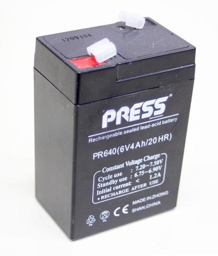 bateria de gel 6v 4ah recargable ideal auto electrico niño