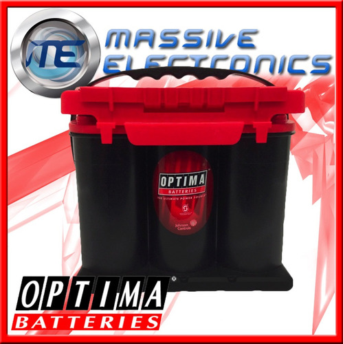 bateria de gel optima roja ideal p sonido 75/25 2 polos 12v