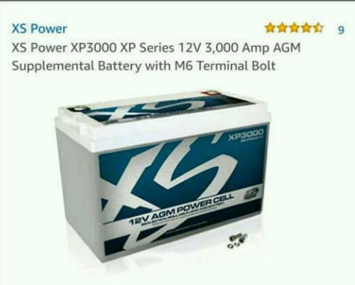 bateria de gel xp 3000, para sonido. nueva