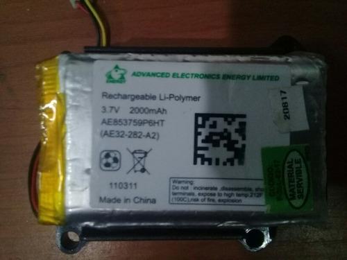 bateria de gps 3.7v   2000 amp  3cm por 6cm