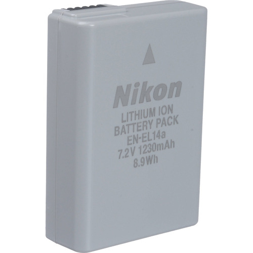 batería de ion de litio en-el14a para nikon