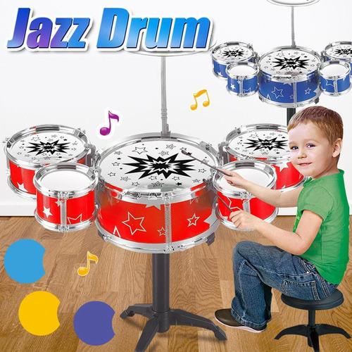 batería de juguete para niños, instrumento educativo p/jazz