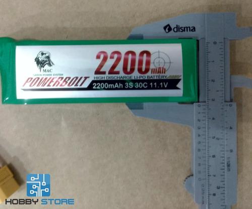 bateria de lipo 2200 3s 11.1v 30c aeromodelo automodelo