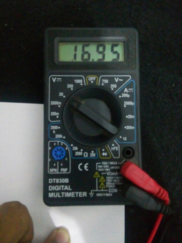 bateria de lithium 16,9 volts 1500 mah